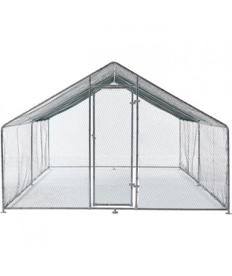 BEAU RIVAGE Enclos poulailler - Parc grillagé en acier galvanisé - 12 m²