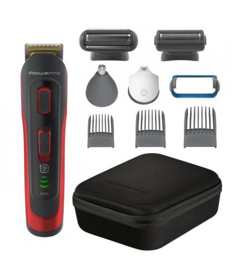 ROWENTA TN9440F4 Selectium Tondeuse homme, Barbe, Cheveux, Visage, Corps, Lames acier inoxydable, Revetement Titanium, 32 rég…