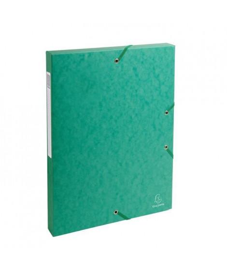 EXACOMPTA - Boite de classement a élastique - Dos 25mm - 24 x 32 - Carte lustrée F.S.C 7/10eme - Vert