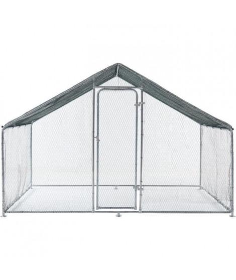 BEAU RIVAGE Enclos poulailler - Parc grillagé en acier galvanisé - 6 m²