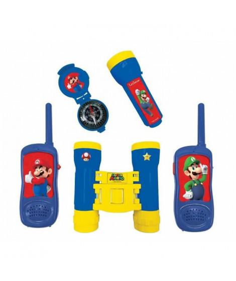 Super Mario - Kit d'aventurier - Talkie-Walkies portée 120m, jumelles et boussole
