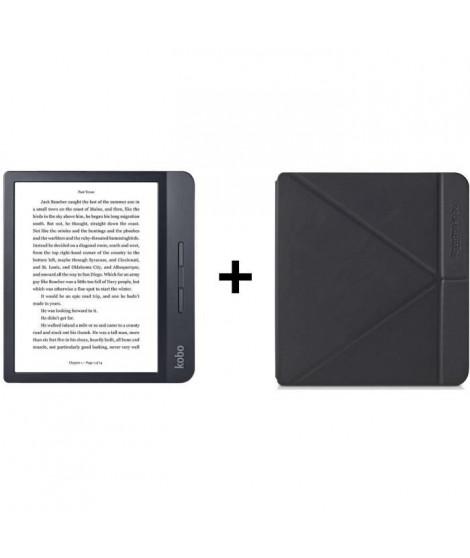 Pack KOBO : Liseuse Tactile Libra 7 - Stockage 8Go - Noire + Etui SleepCover Noir