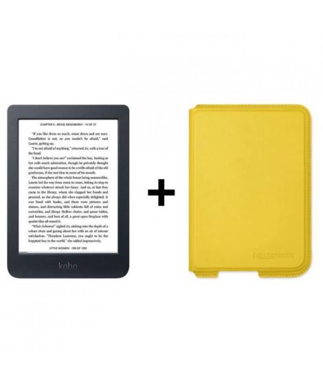 Pack KOBO : Liseuse Tactile Nia 6 - Stockage 8 Go + Etui SleepCover Citron