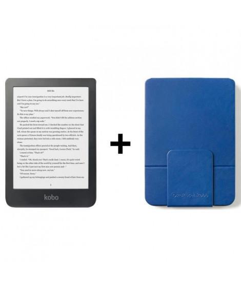 Pack KOBO : Liseuse Tactile Clara 6 - Stockage 8Go + Etui SleepCover Bleu
