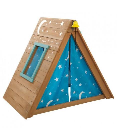 KIDKRAFT - Tipi cabane en bois avec mur d'escalade