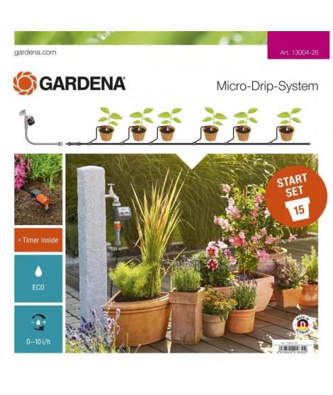 Kit d'initiation Arrosage - Goutte pour plantes en pots avec programmateur