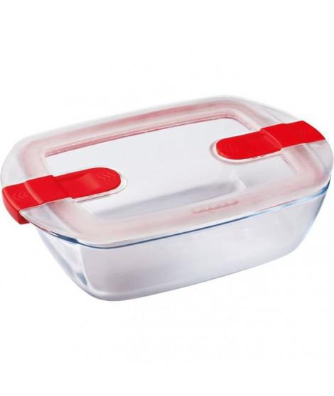PYREX - COOK&HEAT - Boîte rectangulaire en verre avec couvercle 23*15 cm