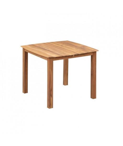 Table de jardin carré 4 personnes - 90 x 90 x H.74 cm - Acacia FSC