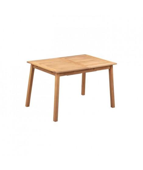Table de jardin extensible 6 a 8 personnes - 120-180 x 100 x H.75 cm - Acacia FSC - Extension papillon