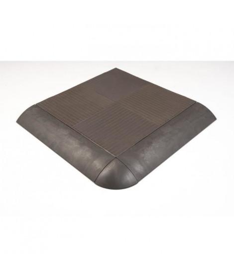 QUADRA Dalle clipsable 100% recyclée - Gris - Vendu par pack de 6 pieces