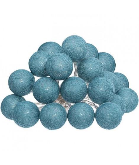 Guirlande LED Secteur - 20 Boules - Bleu - Ø 6 cm