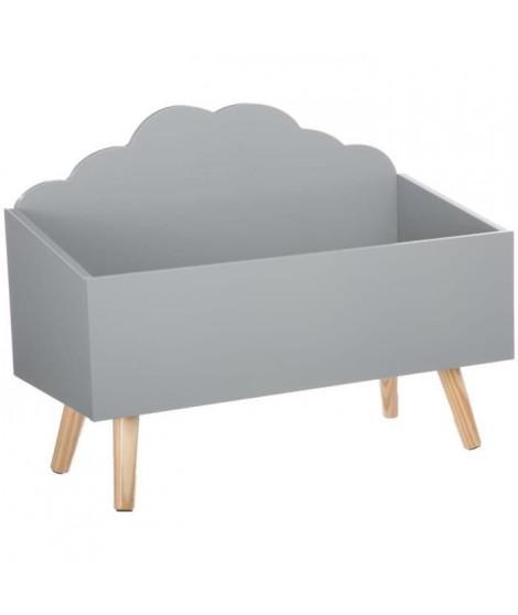 Coffre a jouets nuage - Gris