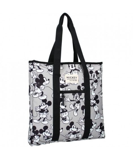 MICKEY MOUSE Sac Shopping My Little Bag Gris/Blanc