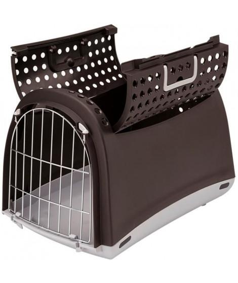 VADIGRAN Transport plastique Linus Cabrio - 50x32x34,5 cm - Noir - Pour chat