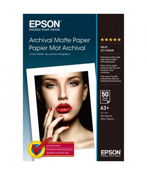 EPSON Pack de 1 Archival papier mat - A3+ - 50 feuilles - 192g/m2