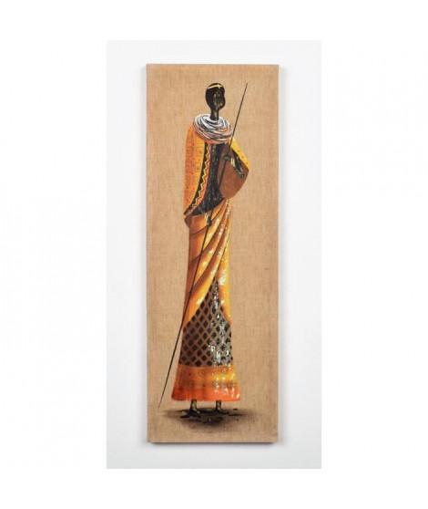 Tableau Afro déco 1 - Peint a la main - 24x2.5x69cm