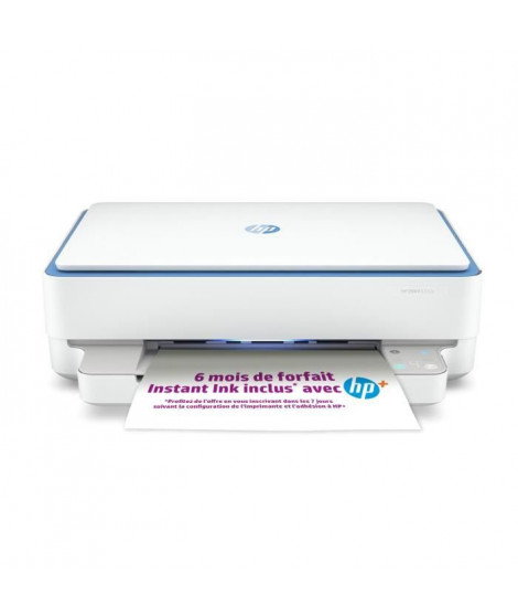Imprimante HP tout-en-un jet d'encre couleur - Envy 6010e - Idéal pour la création - 6 mois d'Instant Ink inclus avec HP+ *