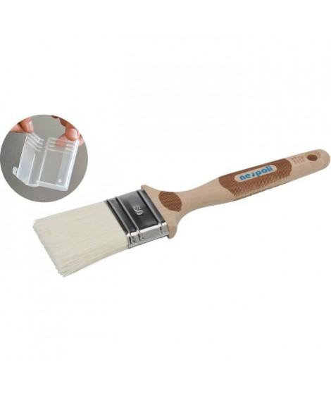 Pinceau plat manche bois FSC et fibres fillpro toute peinture 38mm, NESPOLI