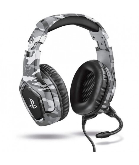 Casque-Micro Gaming - TRUST - Forze - Gris - PS4