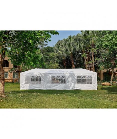 Tonnelle de jardin Marinea - 3 x 9 m - Blanc