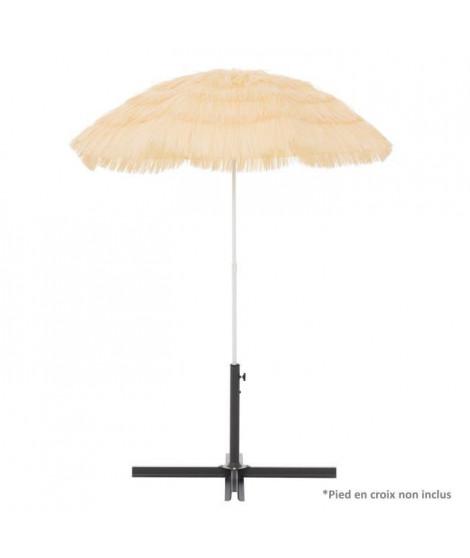 Parasol Hawaii Natural - Arc 160cm - Hauteur : 180cm