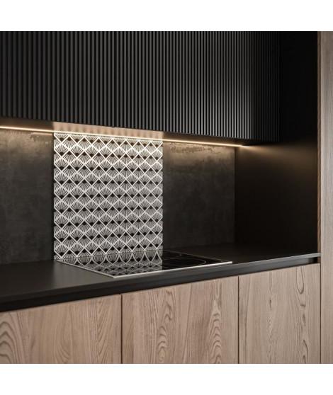 Saint-Gobain Fond de hotte en verre PAPYRUS obtenu par Impression digitale + émaillage 45X60