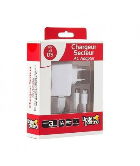 Chargeur secteur + Cable USB Under Control pour 2DS - 3DS