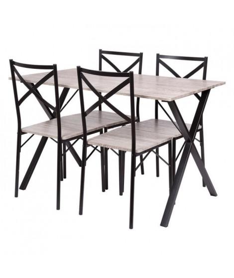 Ensemble de 1 table avec 4 chaises - COUNTRY