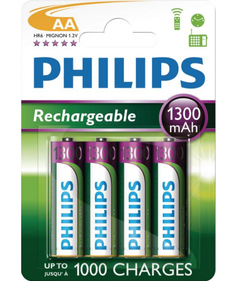 Batteries type AAA Philips R6B4A130/10