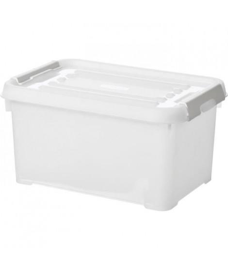 CURVER   Handy box - Plus 6L + clips gris avec couvercle 100% recyclée
