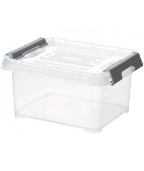 CURVER   Handy box - Plus 2L + clips gris avec couvercle