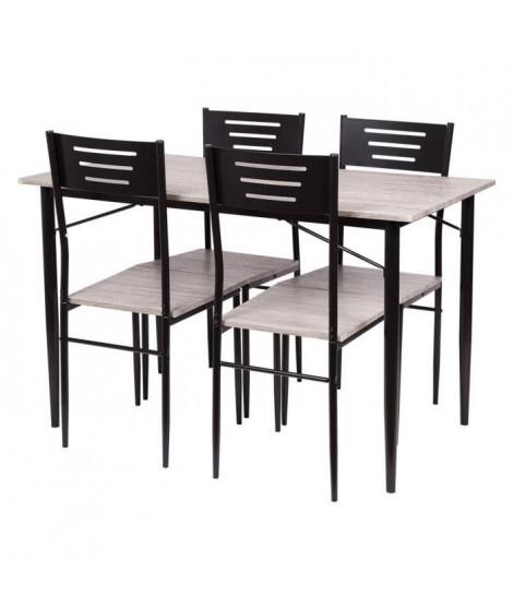 Ensemble de 1 table avec 4 chaises - SANDRO