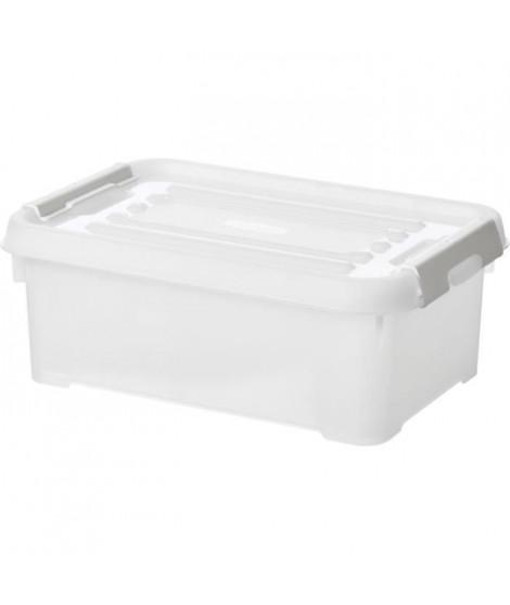 CURVER   Handy box - Plus 4L + clips gris avec couvercle 100% recyclée