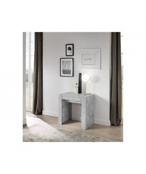 Table Console extensible - Blanc laqué brillant - L 254 x P 79 x H 78 cm - ISABELLA