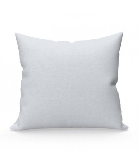 SOLEIL D'OCRE Lot de 2 Taies d'oreiller 65x65 cm en coton uni 57 Fils - Blanc