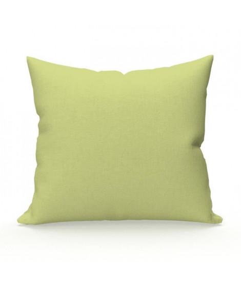 SOLEIL D'OCRE Lot de 2 Taies d'oreiller 65x65 cm en coton uni 57 Fils - Vert