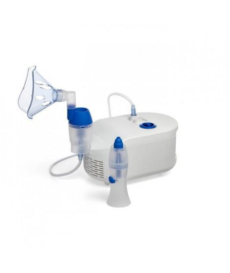 OMRON C102 Total Nébuliseur 2 en 1 avec Douche Nasale - Soulage Efficacement le Nez Bouché et les Symptômes Allergiques
