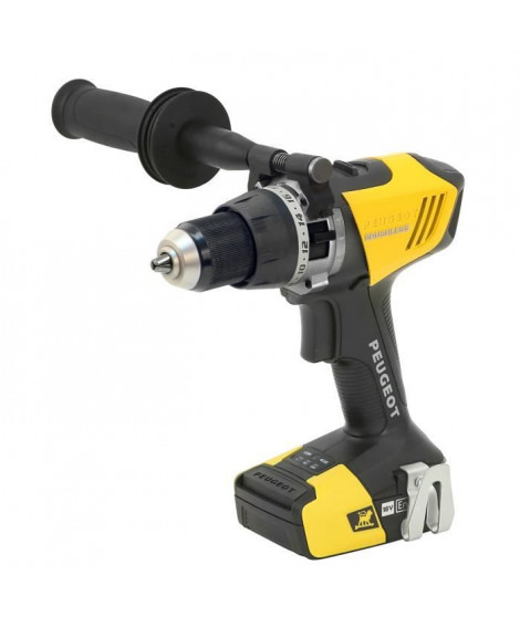 ENERGYDRILL-18VPBL2 Perceuse a percussion BRUSHLESS 18V 2,0 et 5,0Ah PEUGEOT OUTILLAGE