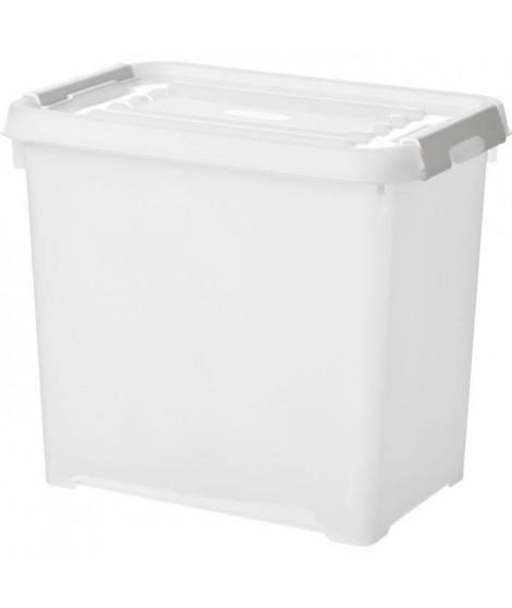 CURVER   Handy box - Plus 9L + clips gris avec couvercle 100% recyclée