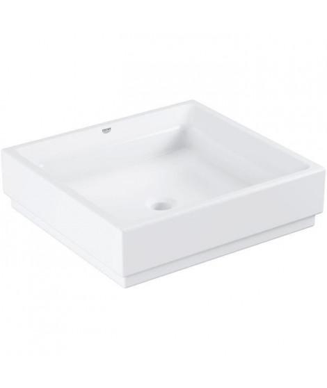GROHE Vasque a poser Cube Ceramic 50 cm -Monotrou -Traitements anticalcaire et antibactérien -Sans trop plein-Céramique -Blan…