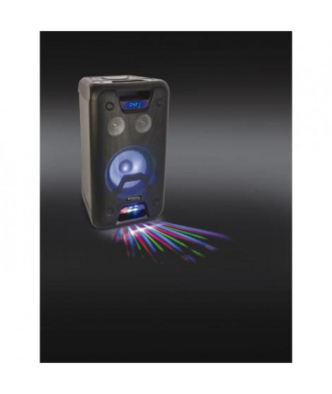 IBIZA FREESOUND300 - Enceinte portable amplifiée - 300W - Fonction Karaoké, Mega Bass - Bluetooth, USB, 2 entrées micro