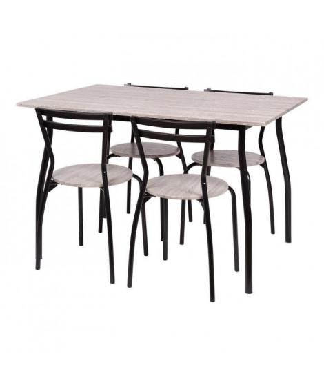 Set table a manger avec 4 chaises - HARRY