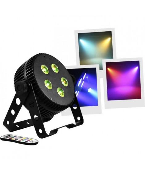 BOOMTONEDJ SILENTPAR - PAR a LED 5x3W 3-en-1 (RGB)  - Aucun bruit de ventilation - Mélange de couleurs grâce a ses LED 3 en 1