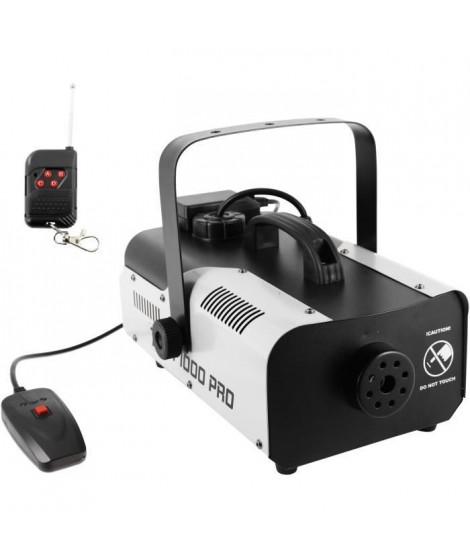 BOOMTONEDJ F1000 PRO - Machine a fumée 1000W - Débit 150m3 - Télécommande filaire et HF incluses - Compacte
