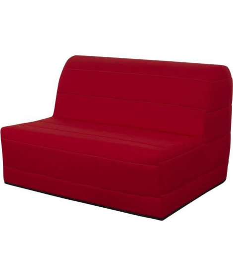 Banquette BZ 140x190 - Tissu rouge - MELISSA
