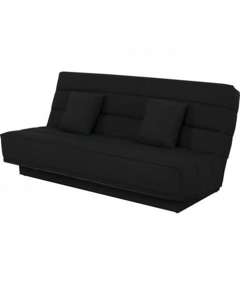Banquette Clic clac 120x190 - Tissu noir - MELISSA