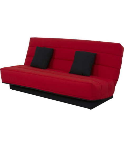 Banquette Clic clac 120x190 - Tissu rouge - MELISSA
