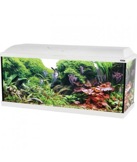 ZOLUX Aquarium ISEO équipé - 106L - L 101 x p 31 x h 47,5 cm - Blanc