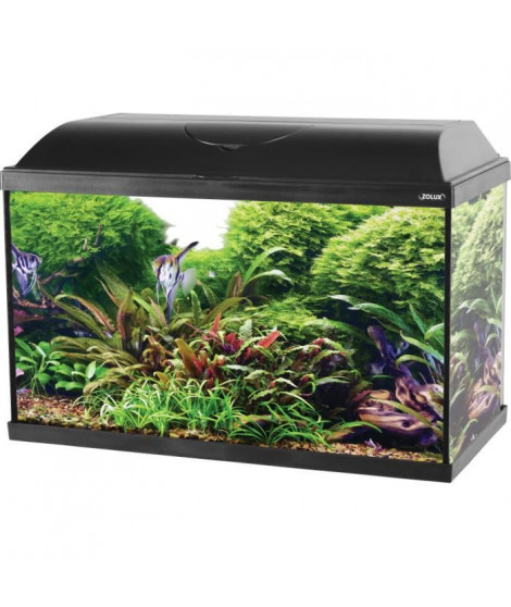 ZOLUX Aquarium ISEO équipé - 57L - L 61 x p 31 x h 42 cm - Noir