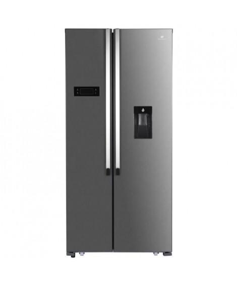 CONTINENTAL EDISON Réfrigérateur américain 529L Total No Frost avec distributeur d'eau autonome, VCM inox